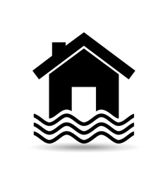 House and water icon vector