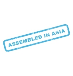 Assembled in asia rubber stamp vector
