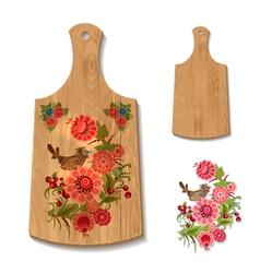 wooden utensil3 vector image