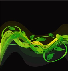 Green abstract leaves background vector