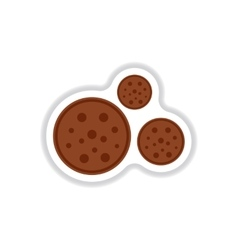 Label icon on design sticker collection bonbon vector