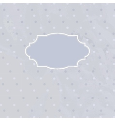 Vintage frame on polka dot background vector image