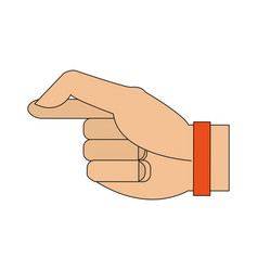 Color image cartoon hand with bracelet vector