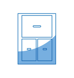 Cabinet drawers empty furniture design vector