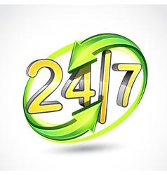 24 7 vector image