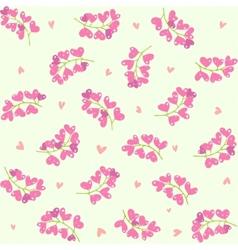 berries hearts seamless vector image
