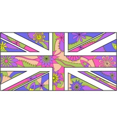 Colorful stylezed uk flag vector