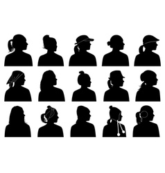women portraits vector image