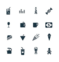 Cafe icons set vector