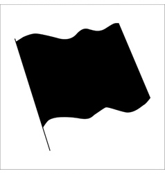 Flag black silhouette vector