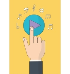 Play icon music online and technology vector