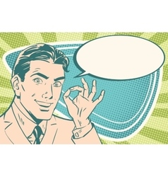 Business man with okay gesture vector image