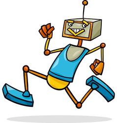 Cartoon running robot vector
