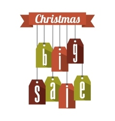 Christmas big sale tags vector