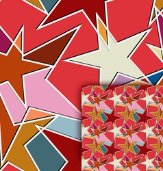 Color seamless texture with stars vector image vector image