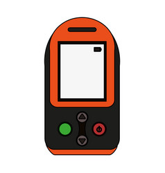 Colorful graphic tech generic gps device vector