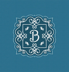 Decorative monogram background vector image vector image
