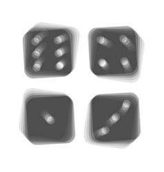 Devils bones ivories sign gray icon vector