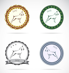 Dog labels vector