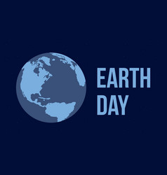 earth day flat style vector image vector image