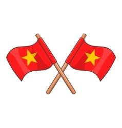 Flag of Vietnam icon cartoon style vector image vector image