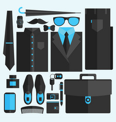 flat business collection dress vector image vector image