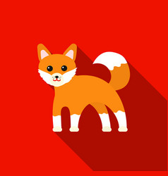 Fox icon flat singe animal icon from the big vector