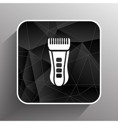 Hairclipper accessory appliance barber beauty icon vector image