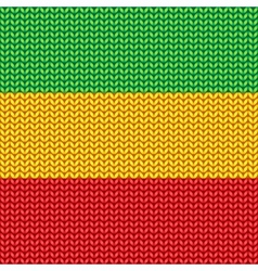 Knitted reggae pattern vector image vector image