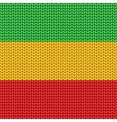 Knitted reggae pattern vector