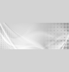 Light grey abstract wavy grunge banner vector