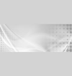 Light grey abstract wavy grunge banner vector