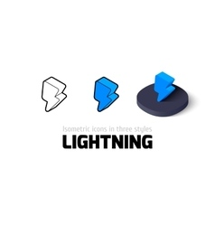 Lightning icon in different style vector image