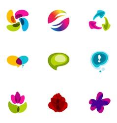 Logo design elements set 35 vector