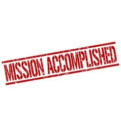 mission accomplished stamp vector image vector image