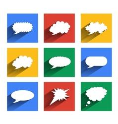 Modern speech bubbles se vector image vector image