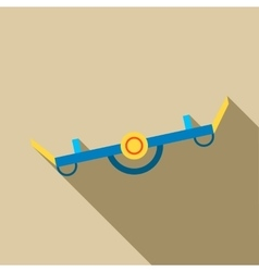 Playground seesaw icon flat style vector
