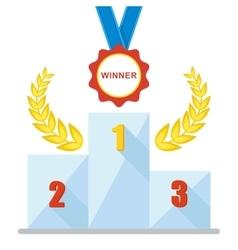 podium winner medal icon vector image