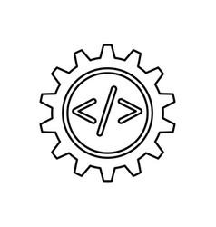 Programming language gear vector