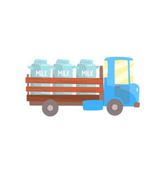 retro milk farmer truck delivery and vector image vector image
