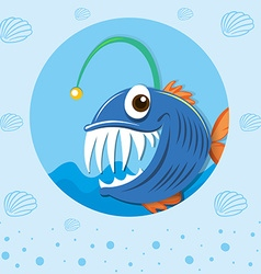 Sea monster under the sea vector image vector image