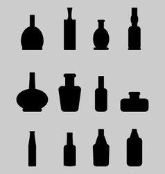 Set of bottle vector image