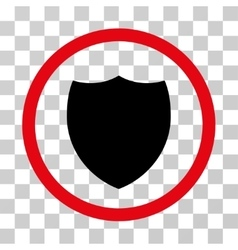 Shield rounded icon vector