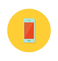 Smartphone icon over orange vector