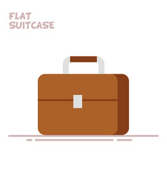 suitcase or briefcase isolated on white background vector image