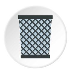 Wire metal bin icon circle vector