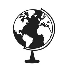 World globe ball map earth education image vector