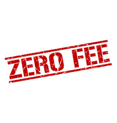 Zero fee stamp vector