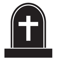 Graveyard skull cross vector