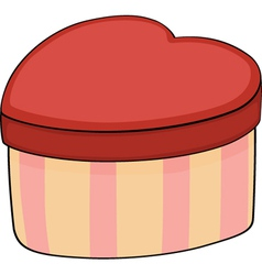 Gift box in the form of heart vector image